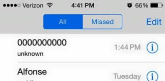 Call from 0000000000