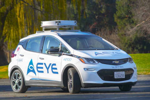AEye's New AE110iDAR System Is Integrated Into HELLA Vehicle At IAA At Frankfurt.