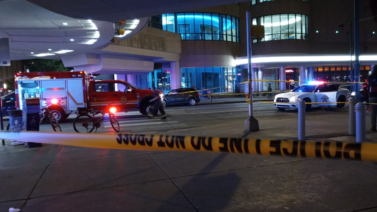 Gunfire in  downtown Indianapolis; Several peoples injured