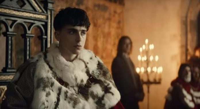Timothee Chalamet dons armour for mediaeval coming-of-age tale 'The King'