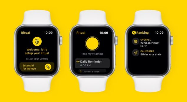 New Apple Watch App by Vitamin Delivery Service Ritual  to Help Users Establish Habits-More information inside