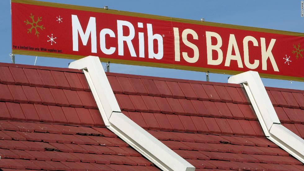 McDonald's the McRib is coming back next week