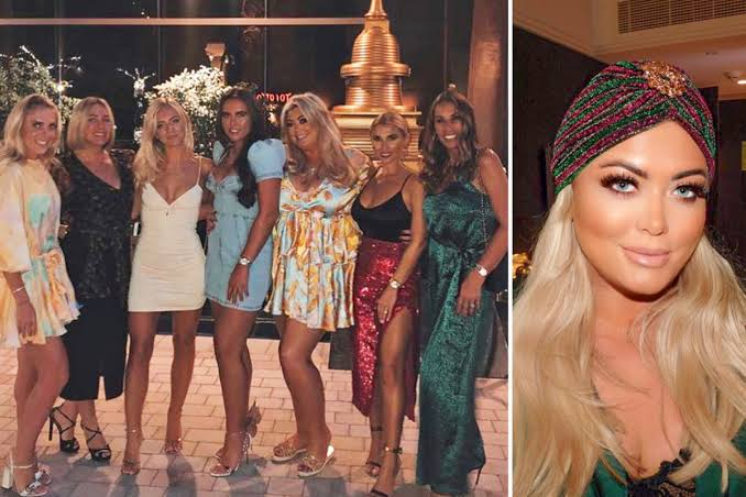 GLOW GIRL Gemma Collins shows off her slim legs while posing in mini-dress with girlfriends in Dubai