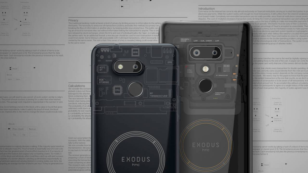 HTC New Exodus 1s smartphone Revealed with built-in Bitcoin wallet