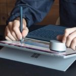 New Microsoft Surface Pen with a wireless charging cradle