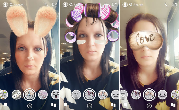 How to use Filters on snapchat while video chatting