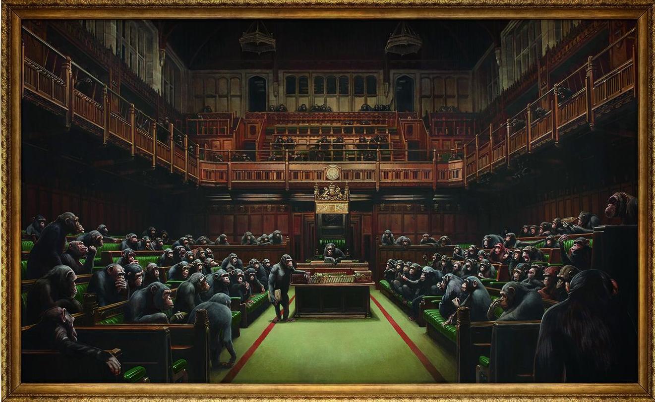 Banksy's 'Devolved Parliament' painting sells for £9.8 million - Details inside