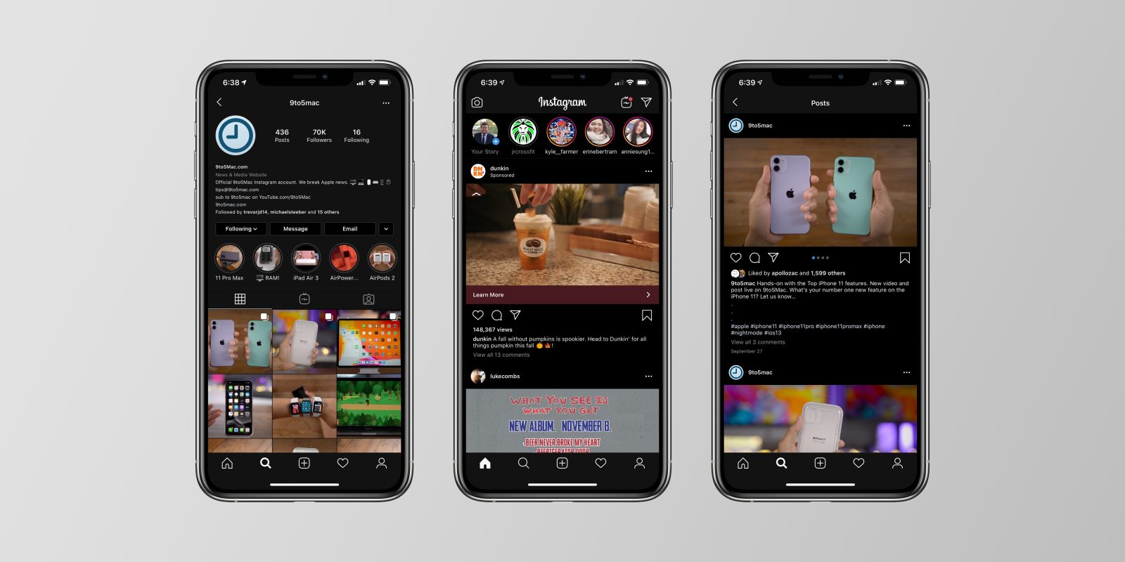 UPDATE: Instagram For iOS Updated With Dark Mode Support