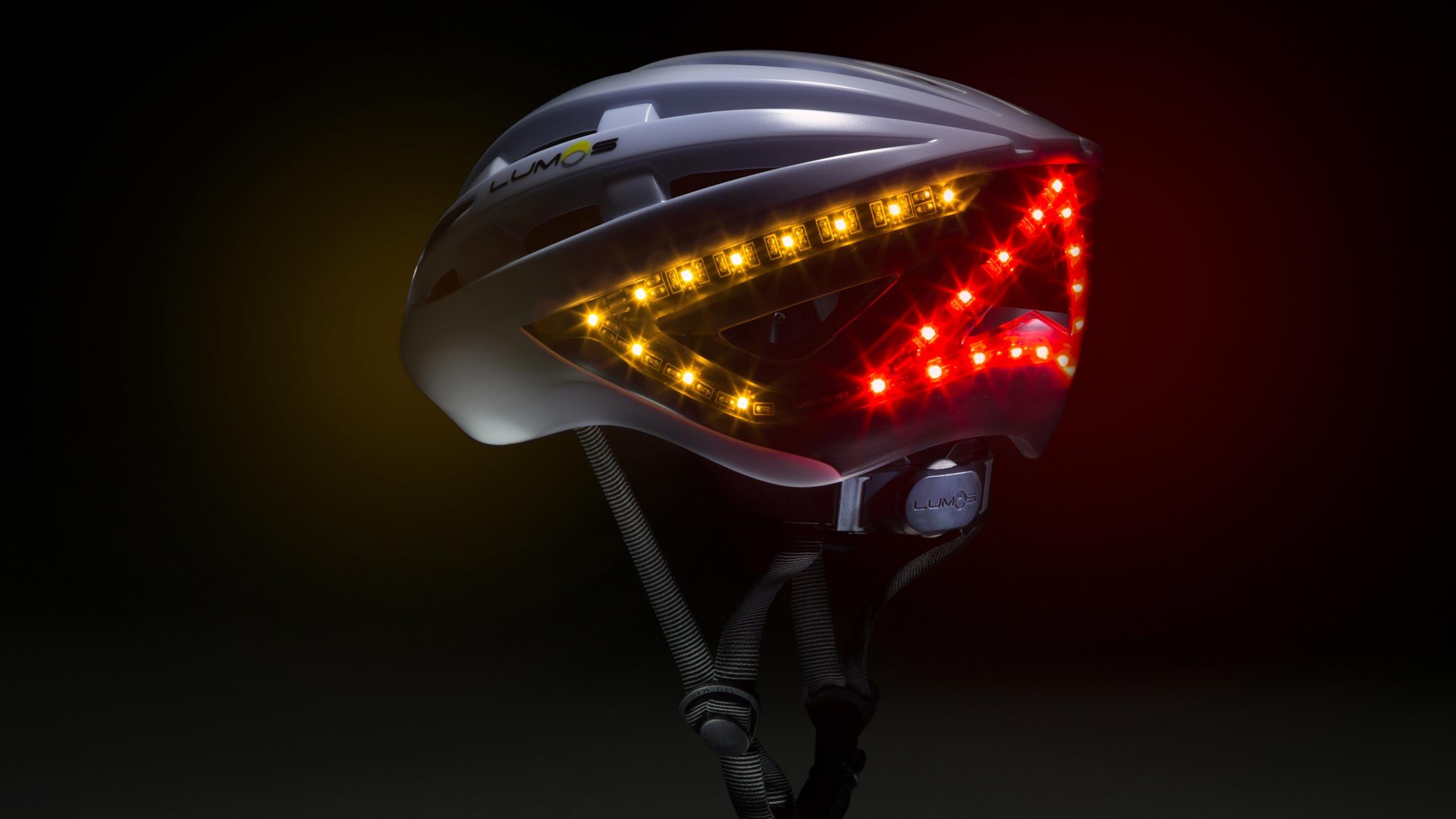 Apple's New smart bike helmet with an LED turn signal