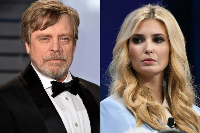 Mark Hamill slammed for commenting 'fraud' on Ivanka Trump's picture- Here's what happened?