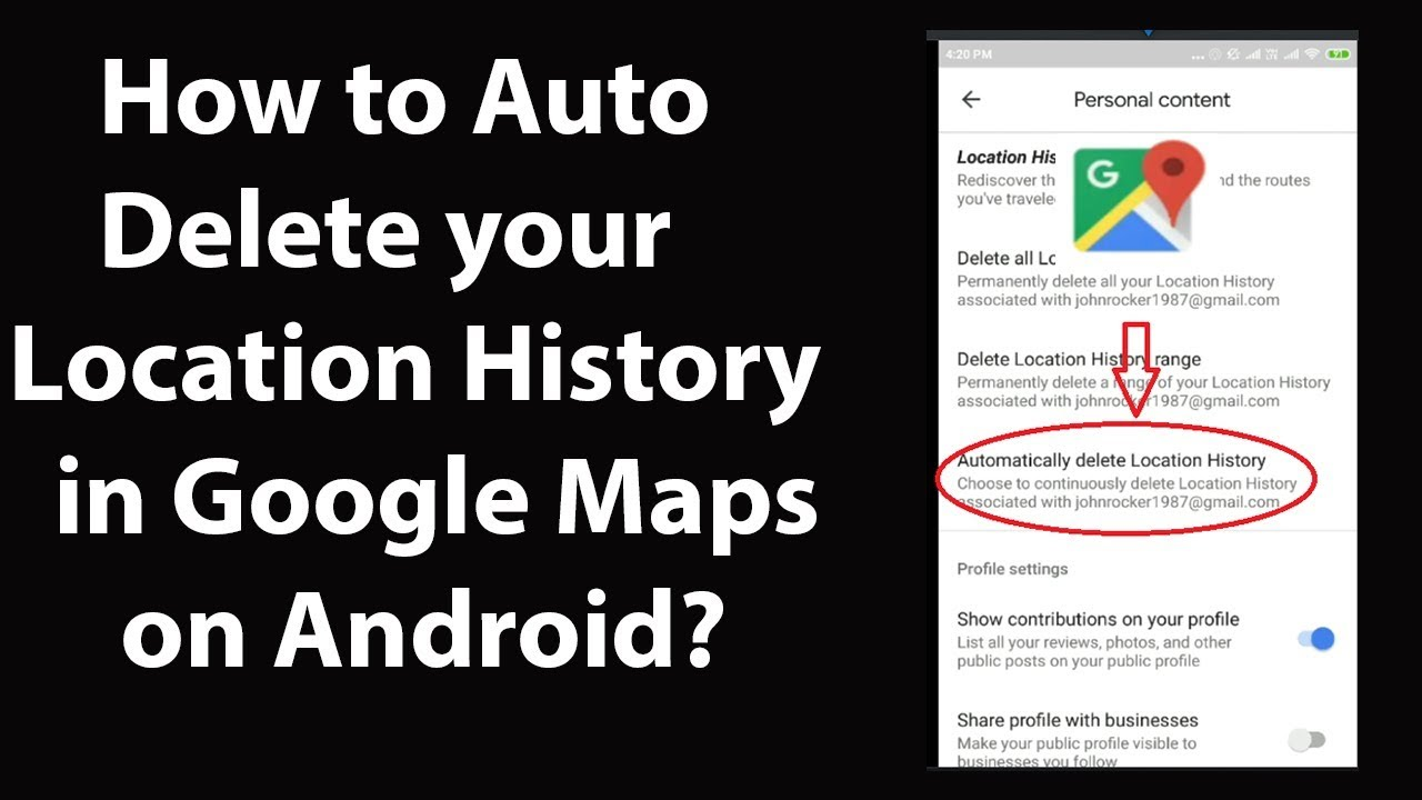 How you can auto-delete your location history on Google Maps?