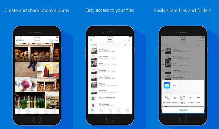 OneDrive for iOS update on groupings for shared files