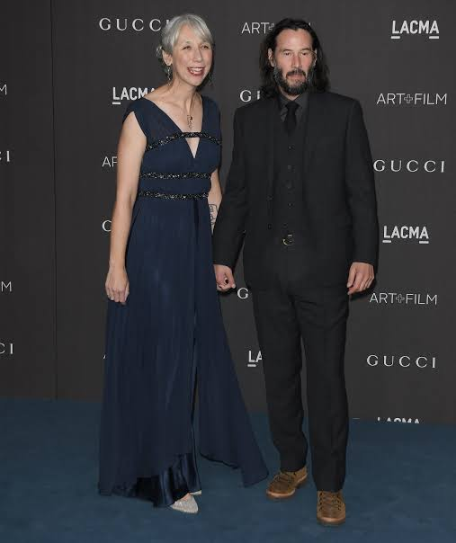 Keanu Reeves With His Girlfriend on the Red Carpet for the First Time Ever