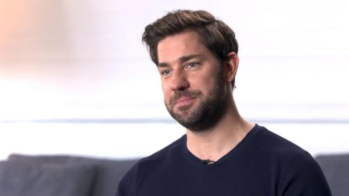 John Krasinski joins co-stars Noomi Rapace and Dina Shihabi at