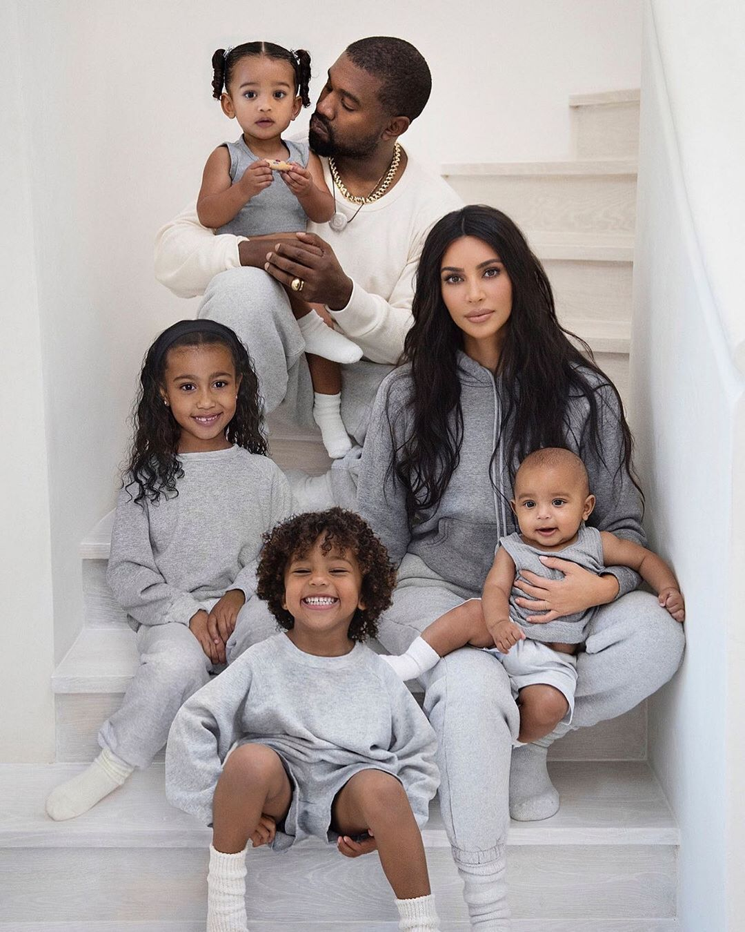 Kim Kardashian needed to alter one of her children into a family photograph once more