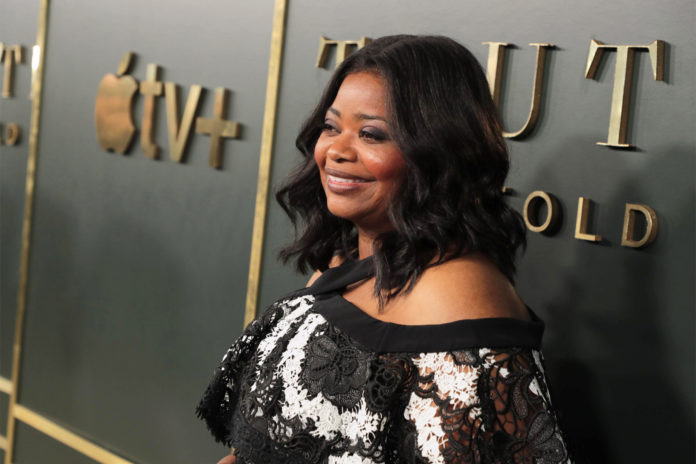 Octavia Spencer suits up as they promote Apple's Truth Be Told in NYC
