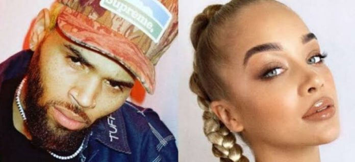 Chris Brown Hanging Out With Model Jasmine Sanders