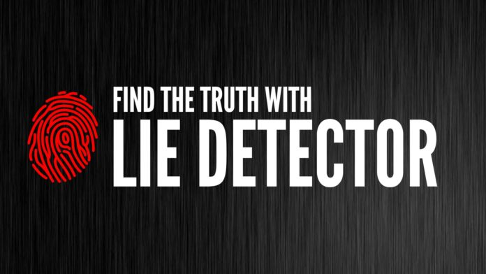 Lie detector test apps
