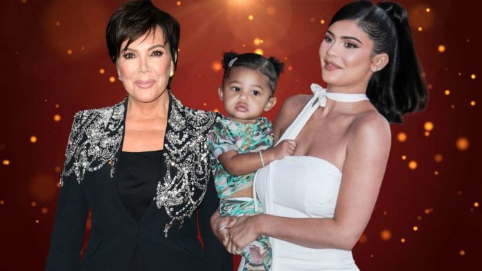Kylie Jenner and Stormi Twinning at Kardashian-Jenner Christmas Party