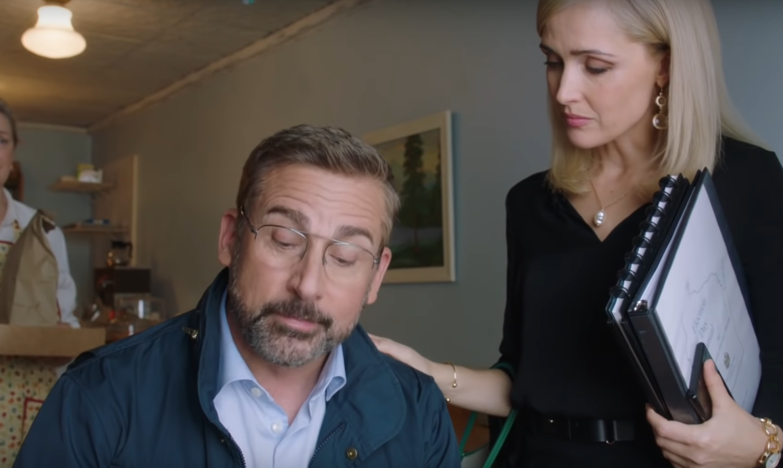 Jon Stewart's tireless trailer in Steve Carell, Rose Byrne clash politics