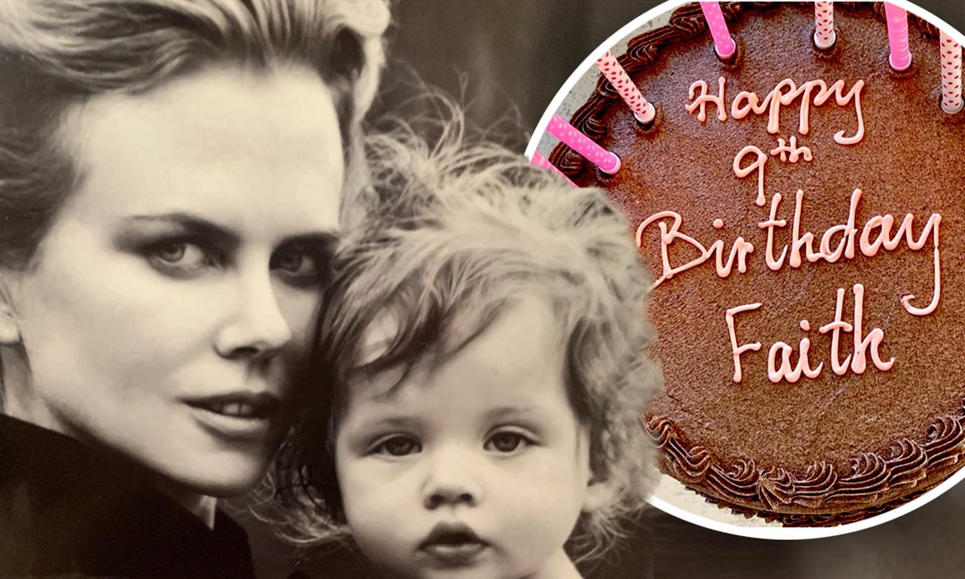 Nicole Kidman shares Photo on Daughter Faith's ninth Birthday