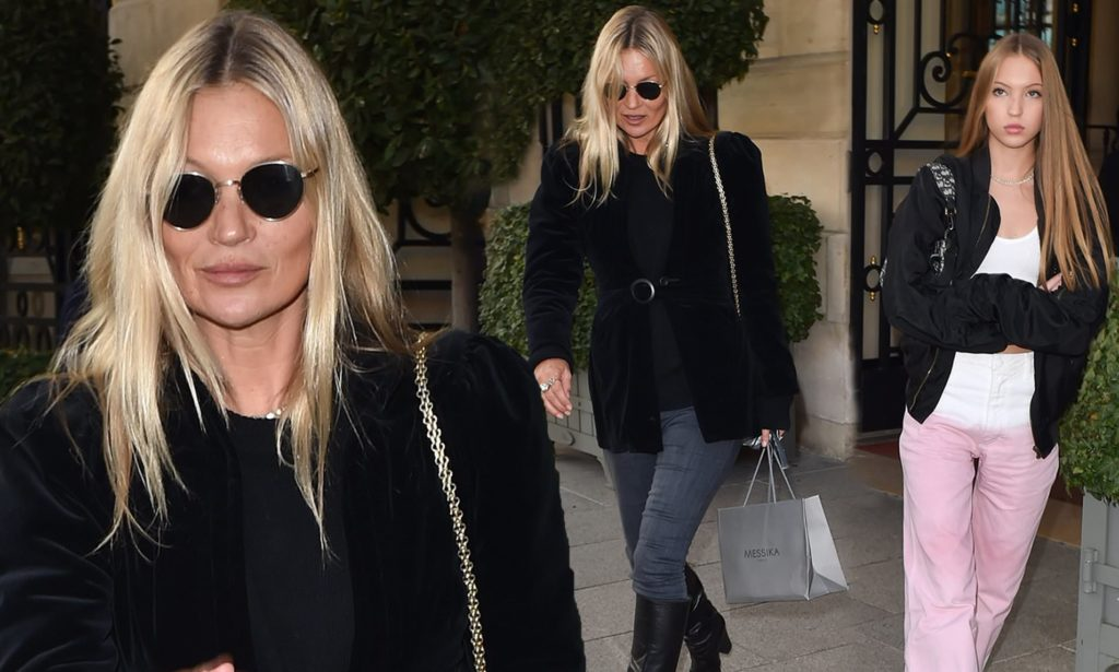 Kate Moss enjoyed her 46th birthday by having dinner with daughter Lila Grace and Boyfriend Count Nikolai Von Bismarck