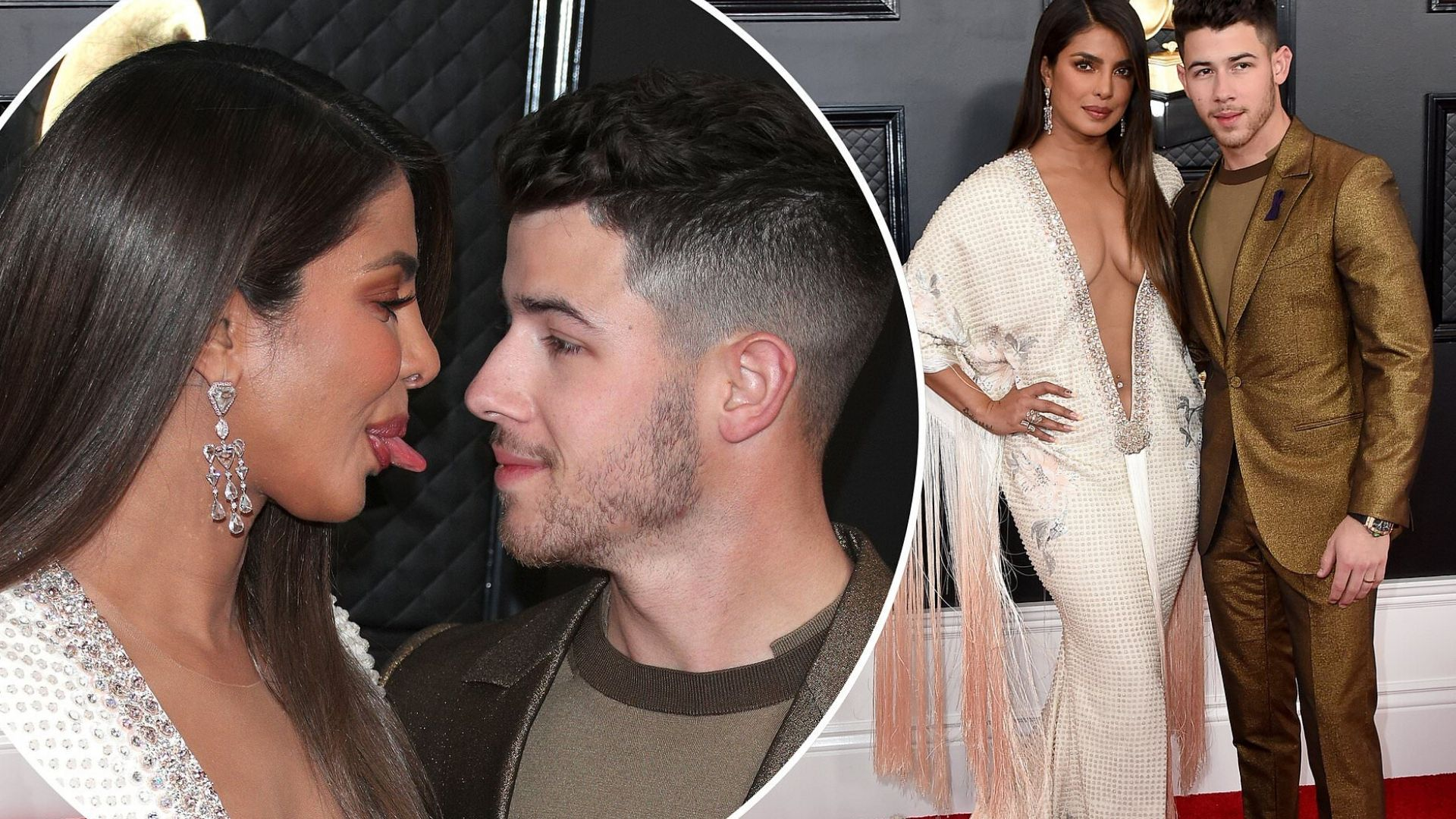 Priyanka Chopra in plunging fringe gown brings the va va voom to the Grammy Awards