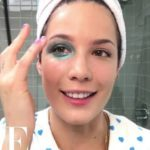 "Here's how she creates the look is ""Like a badge of honor"" Halsey's Glittery Manic Bruise"