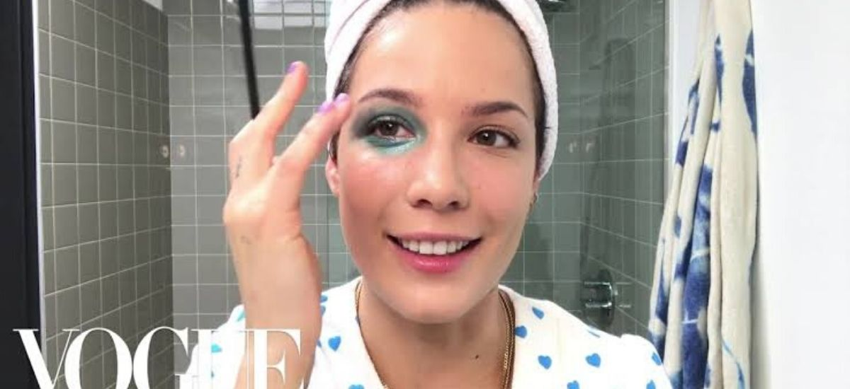 """Here's how she creates the look is """"Like a badge of honor"""" Halsey's Glittery Manic Bruise"""