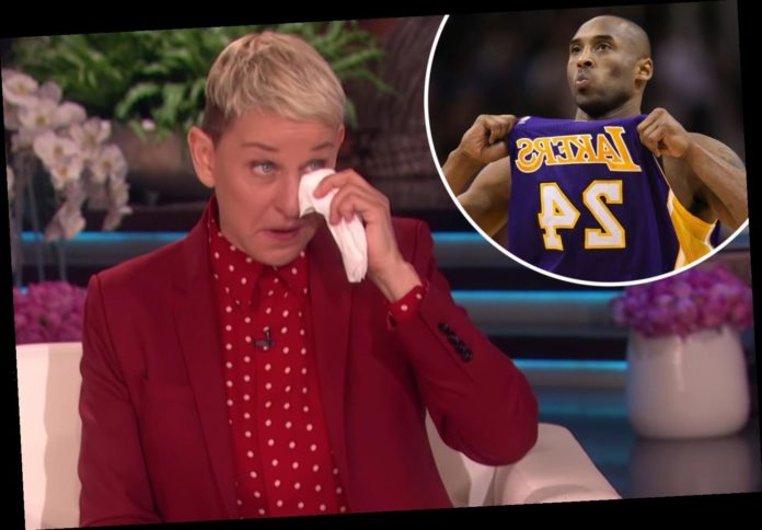 An emotional monologue about Kobe Bryant during in tears broken down is with Ellen Degeneres