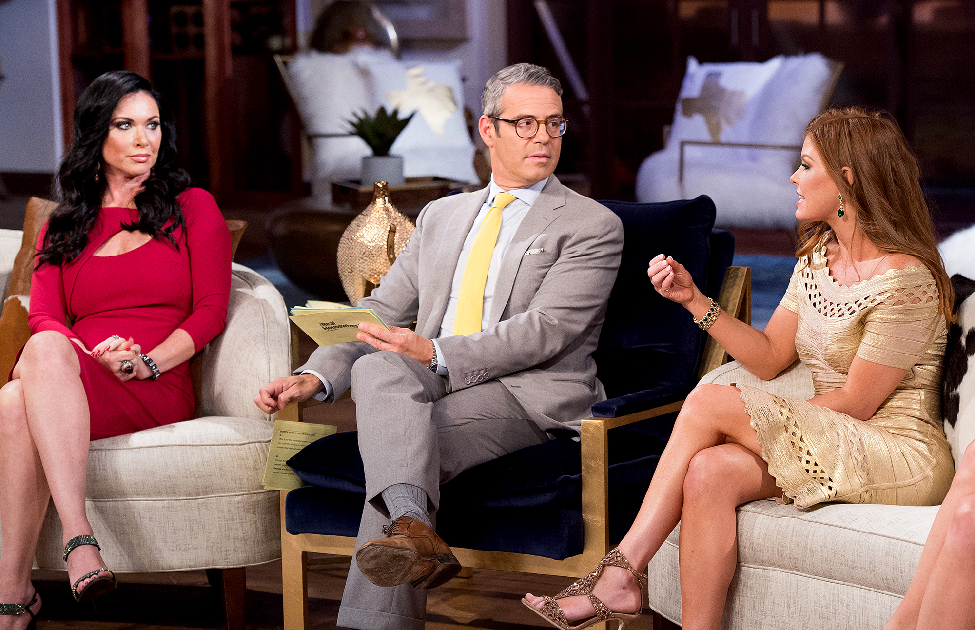 Real Housewives of Dallas' Reunion: Fans cheer Andy Cohen as he follows LeeAnne and challenges her false front
