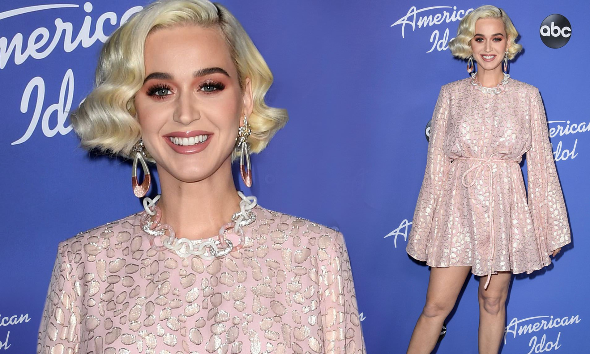 Katy Perry wears Sexiest Pink Dress For 'American Idol' Season 18 Premiere