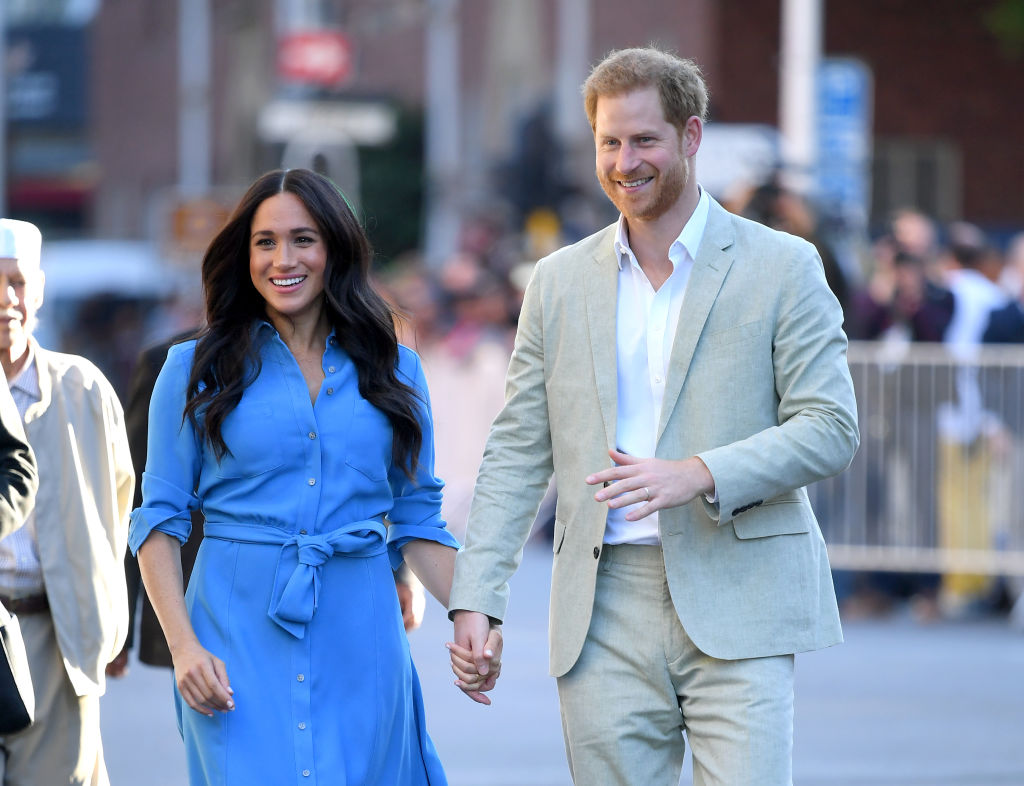 Britain's Prince Harry and wife Meghan begin final royal events