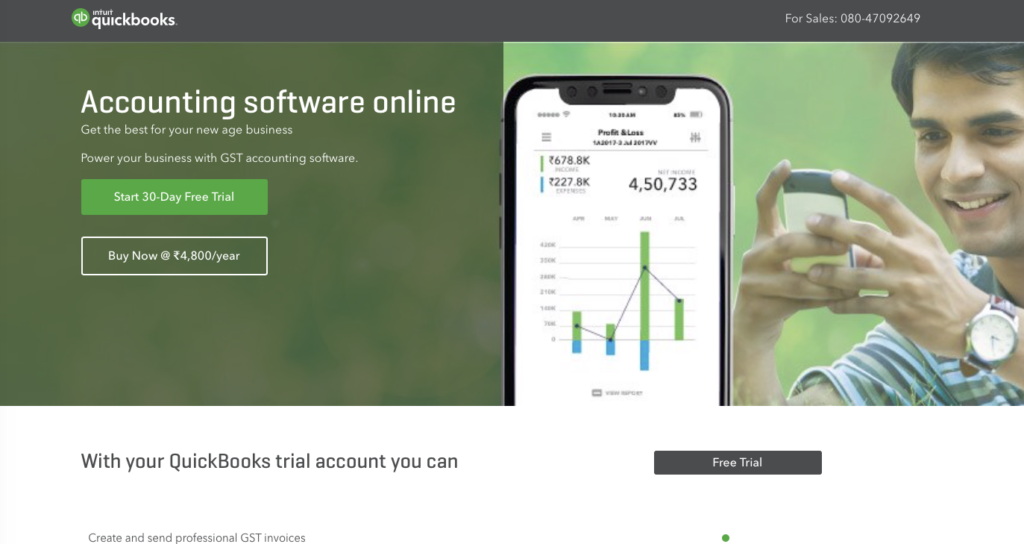 quickbooksonline for India
