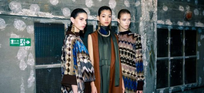 Get a backstage look at Sacai's FW20 show at Paris Fashion Week.
