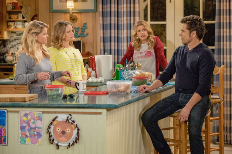 Fuller house scene with Uncle Jesse