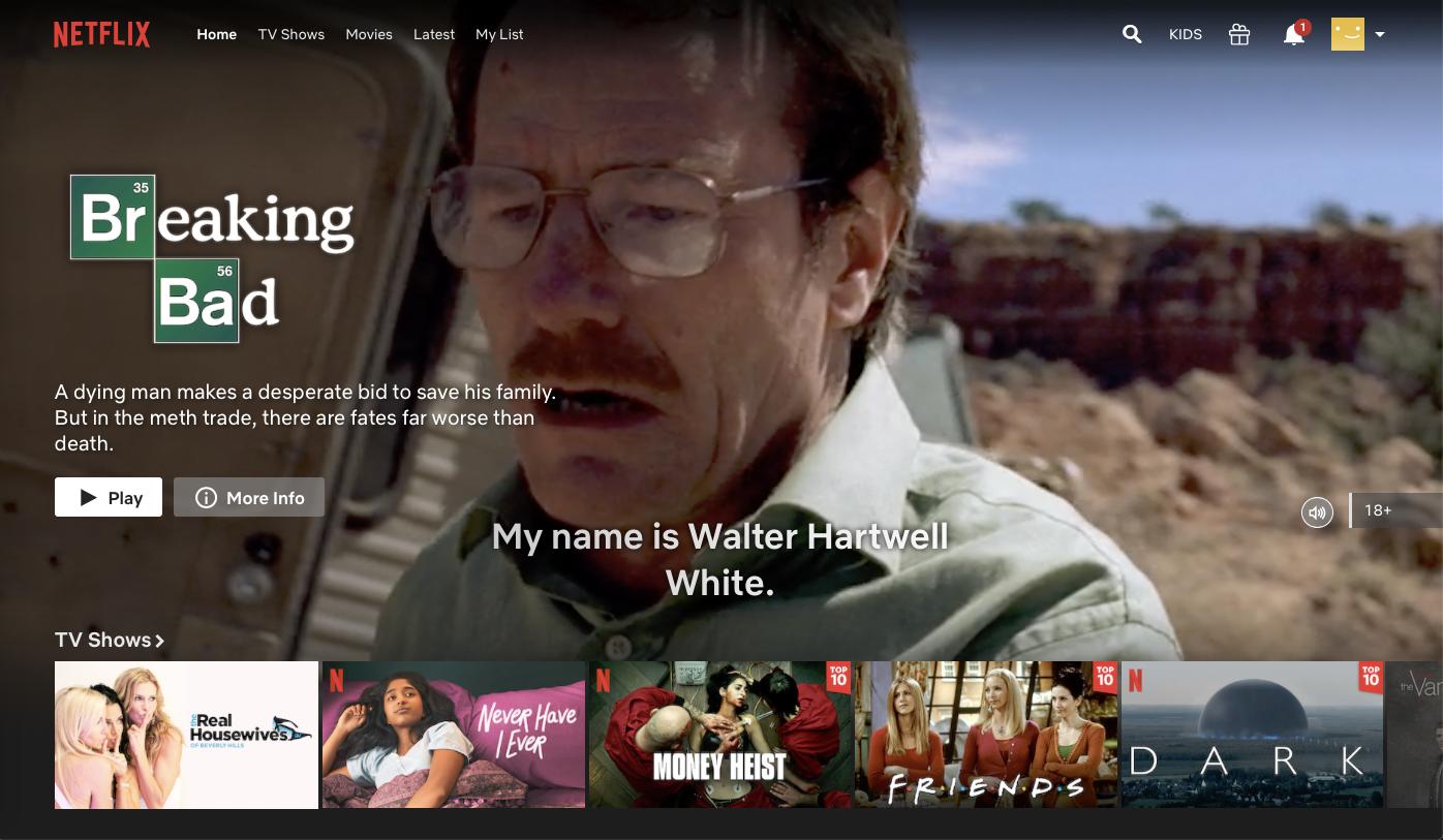 watch tv shows online free on Netflix 2020