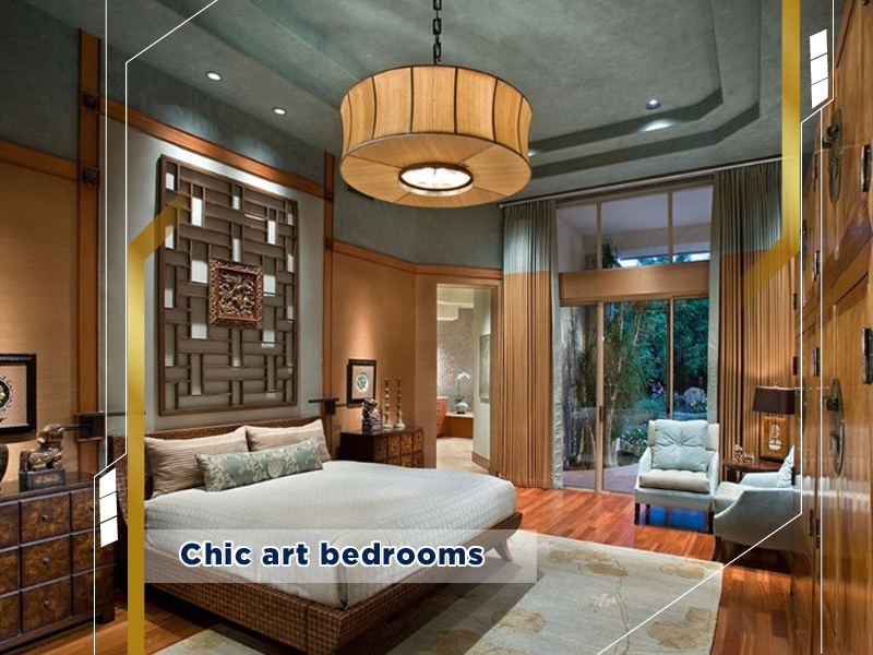 Chic art bedrooms