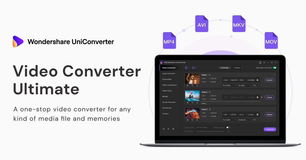 UniConverter to convert video