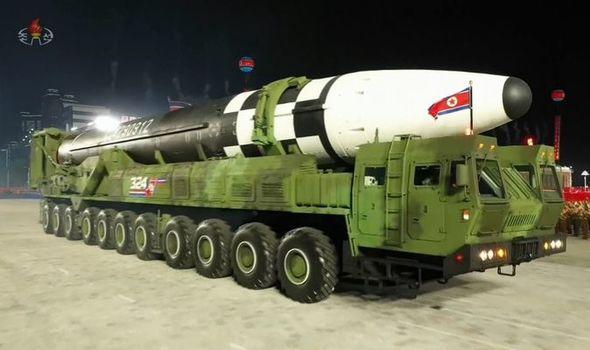 North Korea unveils missile
