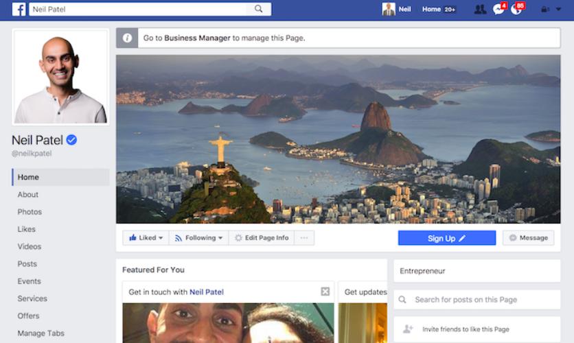 Facebook admin