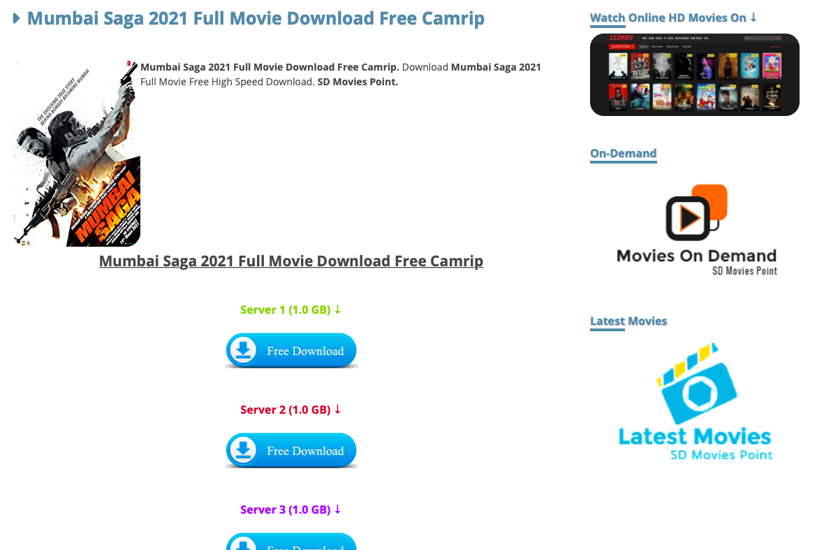 sd movies point 2021 live links
